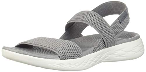 eu 15312 On Strap gyw Mule 600 Grey Flawless uk white Skechers Sandals Ladies Go The 40 7 1PwZB5q