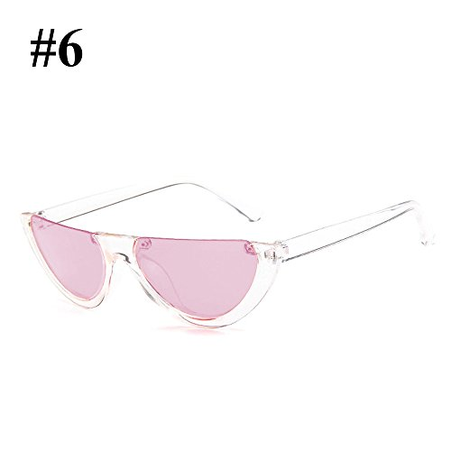 Hanbaili Fashion Woman box Sexy Eyewear for Frame Ladies Vintage Sunglasses Cat transparency Half Eye pink nrqrzBYO