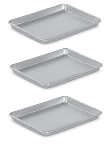 Vollrath 5220 Wear-Ever Collection Quarter-Size Sheet Pans, Set of 3 (9 1/2-Inch x 13-Inch, (Bakers Rack Natural Finish)