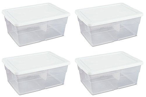16 qt Storage Box White by STERILITE