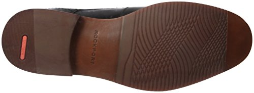 Rockport Mens De Style Casquette De But Blucher Oxford Cuir Noir