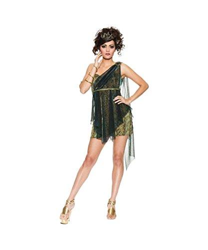 Ivy Vixen Adult Costumes (Venomous Vixen Medusa Poison Ivy Womens Halloween Costume)
