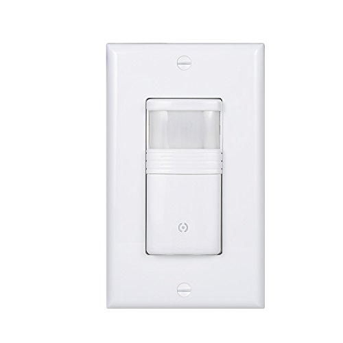 (Pack of 1) White Motion Sensor Light Switch