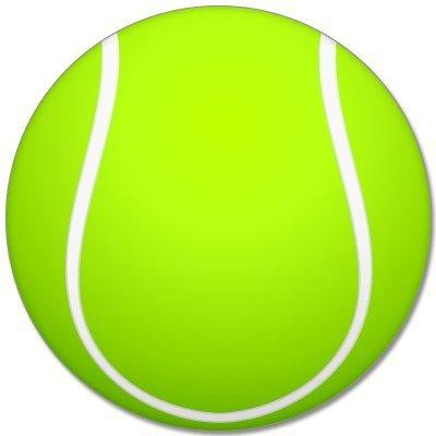 """Tennis sport ball car bumper sticker 4"""" x 4"""""""