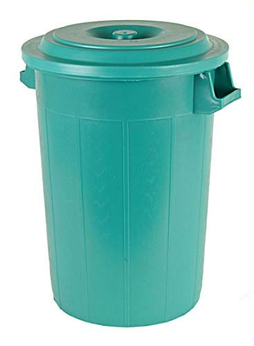 con coperchio e 2 maniglie 70 l colore verde Bidone universale