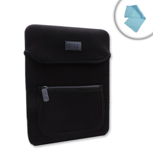 Tablet Neoprene Sleeve Case - Scratch-Resistant Interior w/ Front Zip Pocket and Carrying Handle by USA Gear – Works with Samsung Galaxy Book 10.6 & Other Windows 10