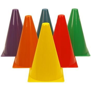 Race Themed Costumes (Dazzling Toys Assorted Colors Plastic Indoor/outdoor Flexible Cone Traffic Cones - Pack of 12 7 Inch Cones)
