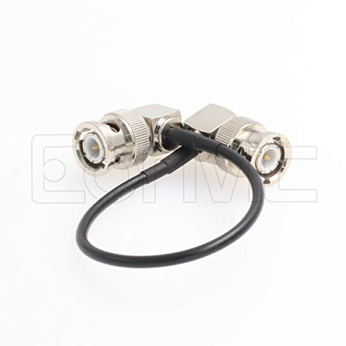 Eonvic 75 Ohm BNC Male Right Angle RG174 Coax Cable (2X 15cm/6in) by Eonvic (Image #1)