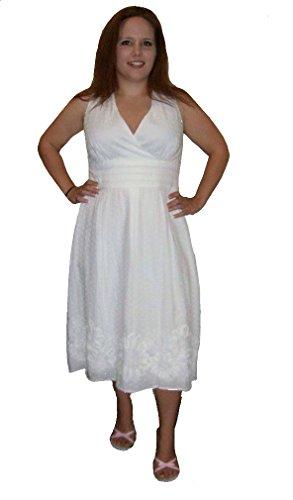 Una Donna Bianco Di Cotone Linea Pois Abiti In Collegati A Abbigliamento wqrnxfIqp
