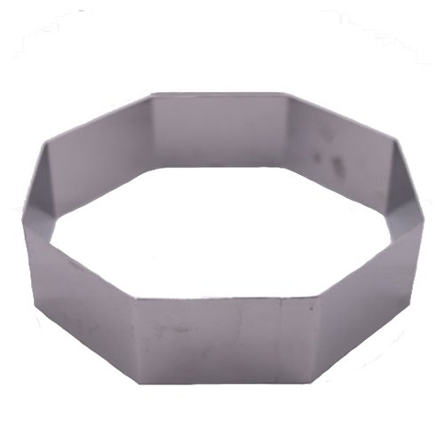 Fat Daddio's Stainless Steel Octagon Cake and Pastry Ring, 9 Inch x 2 Inch
