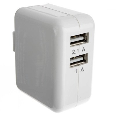 White 2 Port USB Wall Travel Charger 3.1 Amps ( 30 PACK ) BY NETCNA by NETCNA