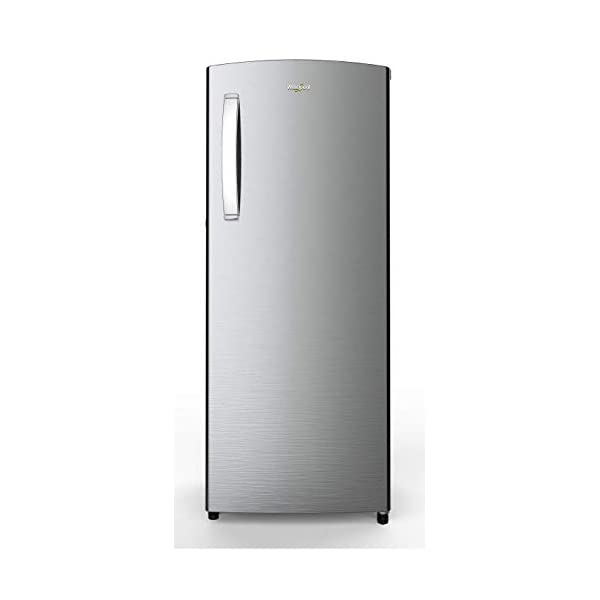 Whirlpool 215 L 3 Star Direct-Cool Single Door Refrigerator (230 ICEMAGIC PRO PRM 3S, Alpha Steel) 2021 August Direct-cool refrigerator; 215 litres capacity Energy Rating: 3 Star Warranty: 1 year on product, 10 years on compressor