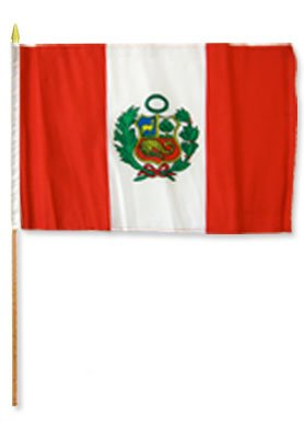 One Dozen Peru 12x18in Stick Flags. For Sale