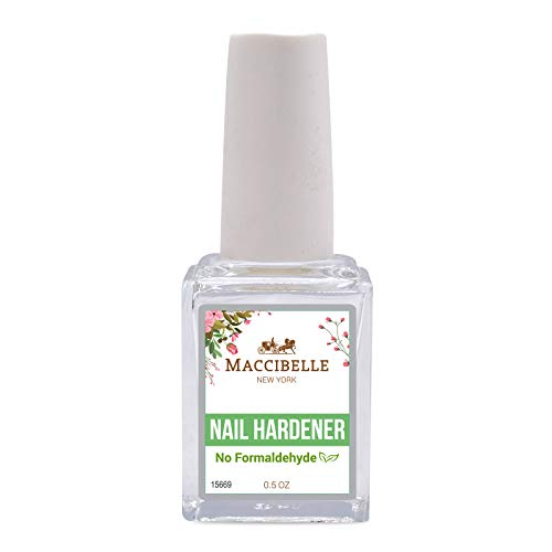 Maccibelle Nail Hardener 0.5 oz No Formaldehyde, Toluene, DBP Strengthener & Nail Growth - Safe and Non-Toxic - Gradually Repair Nails Without Harsh Chemical