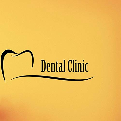 Pbldb 60X21Cm Dental Clinic Wall Decal Care Vinyl Sticker Art Poster Stomatology Decor Tooth Healthcare Wall Art Decoration for Dentist]()
