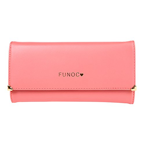 FUNOC Leather Women Wallet Purse Credit Card Clutch holder Case,Watermelon Red,One Size