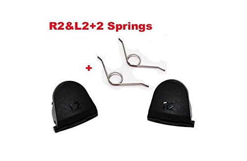 COCOANUT 1 Pairs L2 R2 Trigger Buttons+2 Springs Replacement Parts For PlayStation 4 PS4 L2 R2