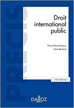 Book's Cover of Droit international public - 15e ed. (Français) Broché – 19 août 2020