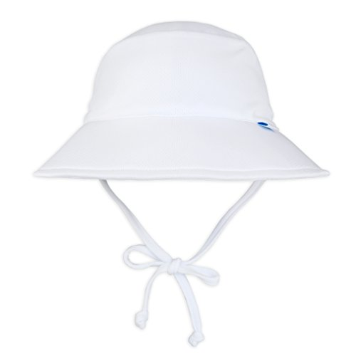 i play. Unisex-Child Toddler Boys' Breatheasy Bucket Sun Protection Hat, White, 2T/4T