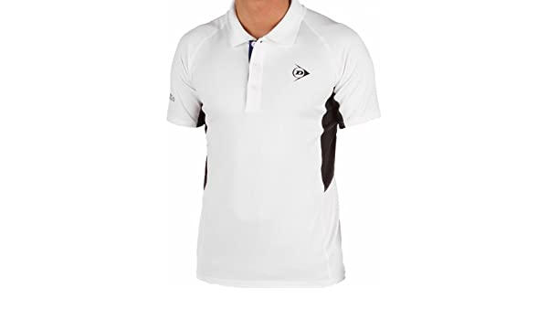 Dunlop Performance Polo de Tenis para Hombre Blanco de Antracita ...