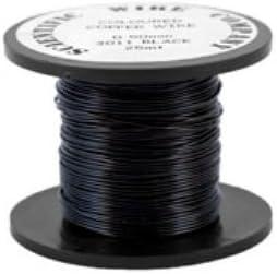 Black Jewelry Making Wire 15M Black Wire Black Craft Wire UK Seller Craft Supplies Wire Coil 0.5mm Jewelry Supplies Black Copper Wire