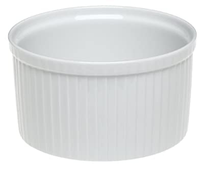 Pillivuyt Porcelain 3.75-Cup, 6-1/2-Inch Diameter Classic Pleated Souffle Dish