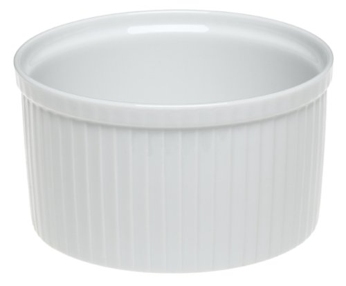 Pillivuyt Porcelain 3.75-Cup, 6-1/2-Inch Diameter Classic Pleated Souffle Dish (Pleated Deep Souffle Dish)