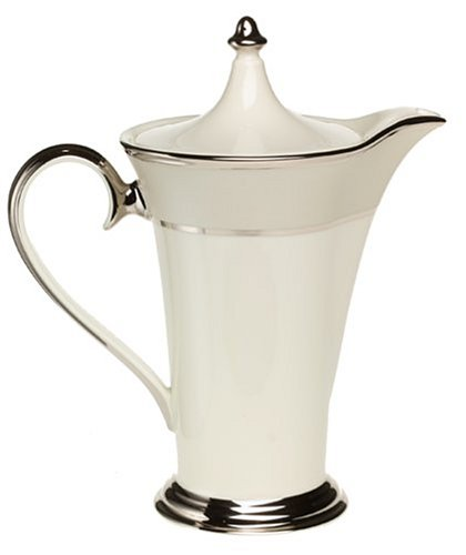 Banded Pot Coffee Platinum (Lenox Ivory Frost Platinum-Banded Coffeepot)
