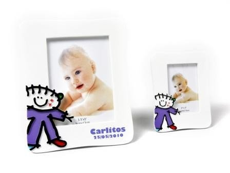 DISOK - Portafotos Bautizos Toy Poliresina Niño L - Detalles para bautizos portafotos recuerdos: Amazon.es: Hogar