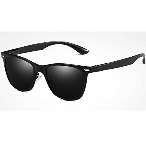 FEIDU Cocoons Fitovers Polarized Sunglasses Aviator (XL) Black-le