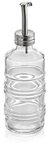 (IVV Glassware 9-1/2 oz Industrial Chic Glass Oil Bottle, 7-1/2