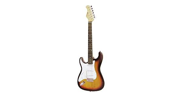 Guitarra eléctrica PATRON para zurdos con accesorios, sunburst - Guitarra para principiantes / Instrumento de cuerda - klangbeisser: Amazon.es: Hogar