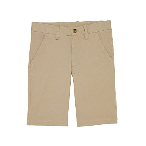 French Toast Big Boys' Flat Front Stretch Short, Khaki, 14 French Toast Boys Shorts