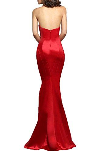 Avril Satin Red Prom Formal Sheath Hot Wedding Dress Gown Medrmaid Sexy Guest rqZWrnA