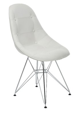 Outstanding Eiffel Padded Chair White Amazon Co Uk Kitchen Home Machost Co Dining Chair Design Ideas Machostcouk