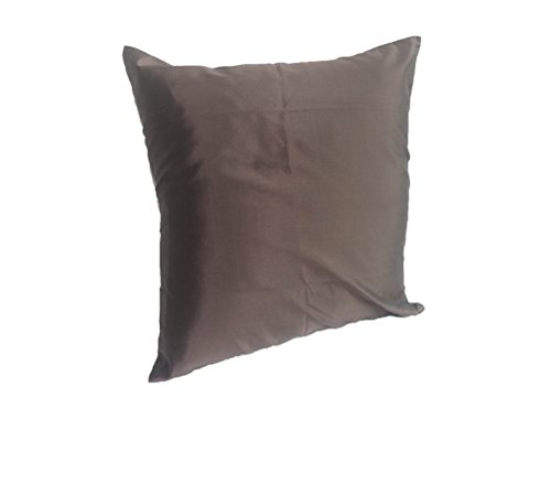 Lotus House Brown Silk Pillow Case by Lotus House