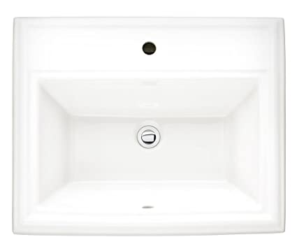 American Standard 0700.001.020 Town Square Vitreous China Countertop Sink  For Single Center Hole,