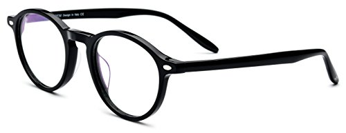 HEPIDEM Women Vintage Round Optical Glasses Frame Spectacles with Acetate 9103 - Glasses Websites Good