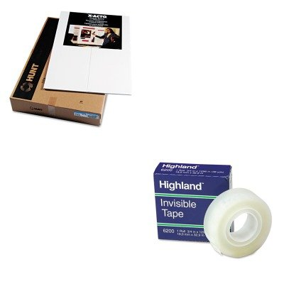 KITEPI902090MMM6200341296 - Value Kit - Elmers CFC-Free Polystyrene Foam Premium Display Board (EPI902090) and Highland Invisible Permanent Mending Tape (MMM6200341296) by Elmer's