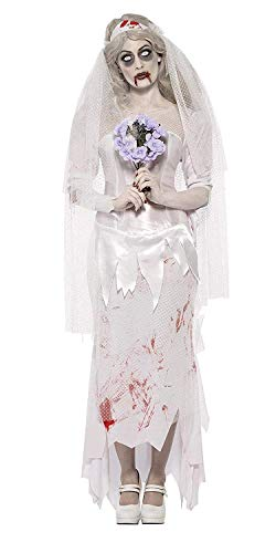 Ladies Till Death Do Us Part Zombie Bride Costume Halloween Outfit]()