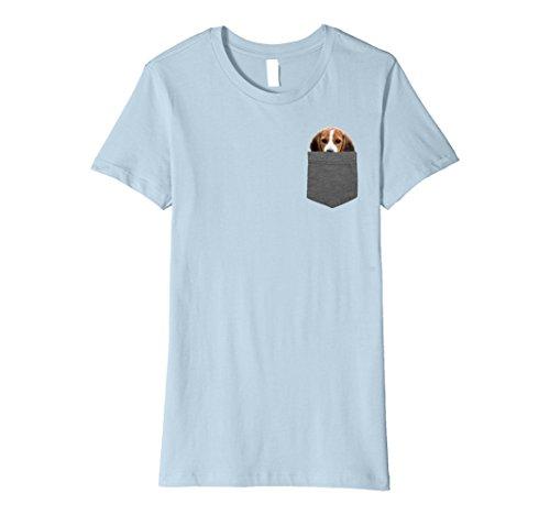 Womens Dog in Your Pocket Tshirt Beagle Shirt Medium Baby Blue
