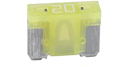 Honda Accord Fuse (5 Pack Bussmann BP/ATM-20LP-RP Yellow ATM Low-Profile 20 Amp Fast-Acting Automotive Mini Blade Fuses - 5 per Card)