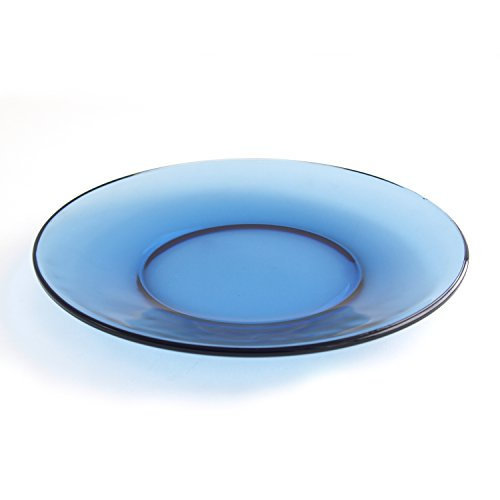 Anchor Hocking Presence Denim Blue Glass 8 Inch Plate, Se...