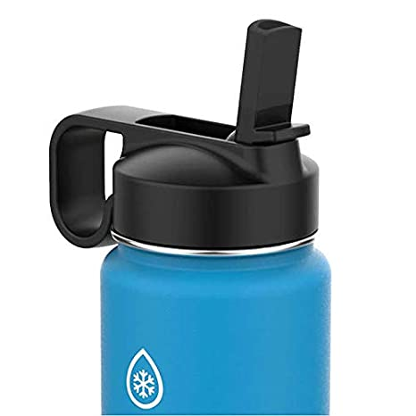 ThermoFlask 24-Ounce Double Wall Vacuum Insulated Stainless Steel Water  Bottles, Blue, Black, 24oz