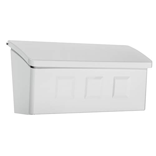 - Architectural Mailboxes 2689W-10 Wayland Wallmount Mailbox, Small, White