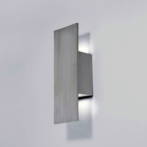 WAC Lighting WS-W54614-AL Icon LED Outdoor Wall Light, 14 Inches, Brushed Aluminum by WAC Lighting