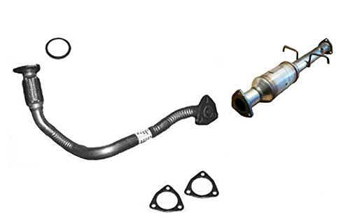 1 Front Engine Flex Pipe Catalytic Converter W Gaskets Fits S10 Sonoma Hombre 2.2L (Front Pipe Gasket)