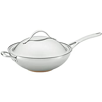 Amazon Com Anolon 77272 Nouvelle Stainless Steel Stir Fry