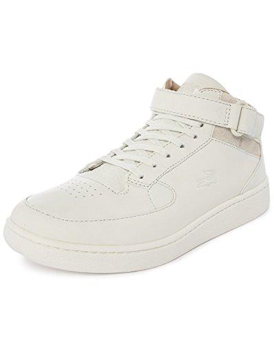 Lacoste STRAIGHTSET CRF - zapatilla deportiva de cuero hombre blanco