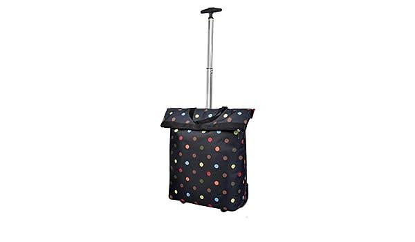 e36ede9aba5e Amazon.com: Tengxiang Shopping cart Black Point Portable Trolley ...